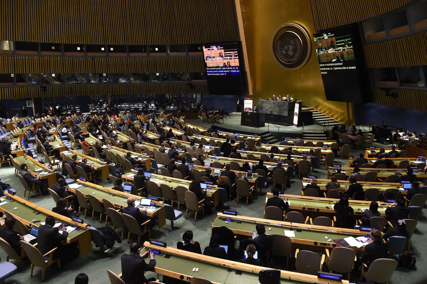Maaliskuussa YK:n päämajassa New Yorkissa pidetyssä kokouksessa käsiteltiin ilmastonmuutosta ja kestävää kehitystä. Tällä viikolla samassa paikassa pidetään YK:n 74. yleiskokous.