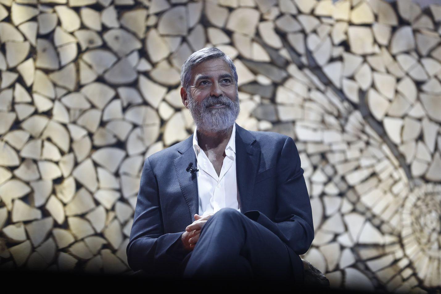Elokuvatähti George Clooney esiintyi ensimmäistä kertaa Suomessa. Hän oli kaksipäiväisen Nordic Business Forumin pääpuhuja.