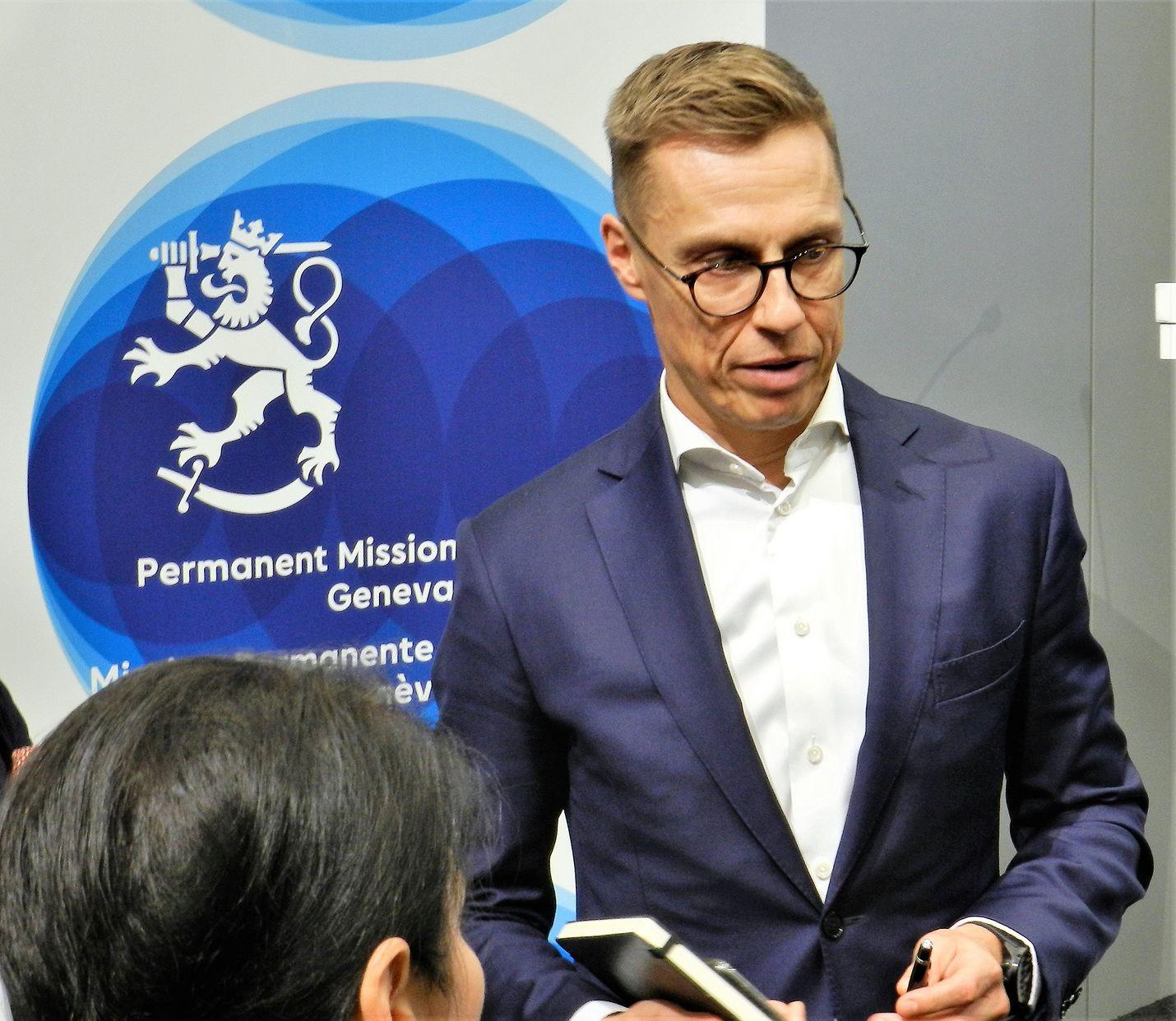 Lännen Media tapasi varapääjohtaja Alexander Stubbin Genevessä, jossa hän oli luennoimassa muun muassa Euroopan asemasta nykyisessä maailmantilanteessa.