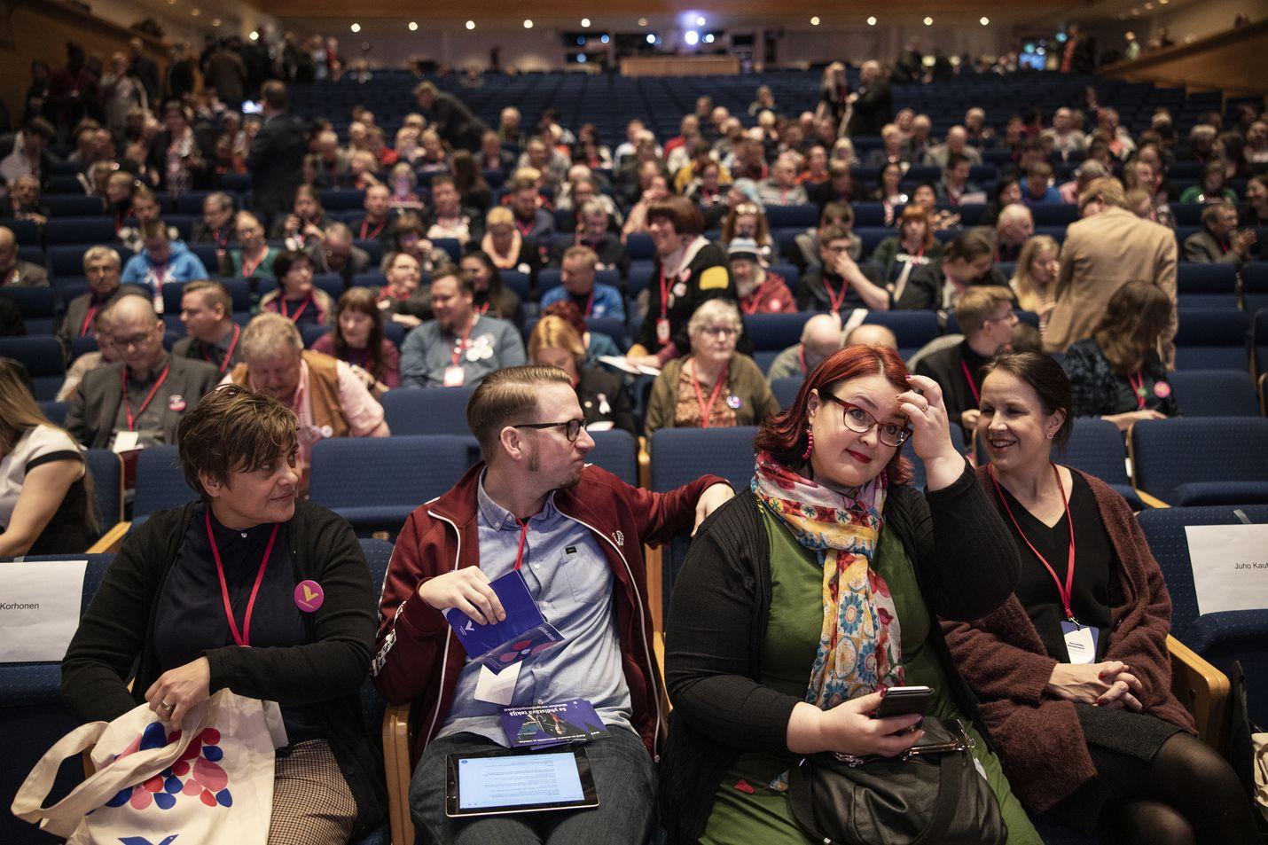 Vasemmistoliiton puoluekokous alkoi perjantaina Kuopiossa.