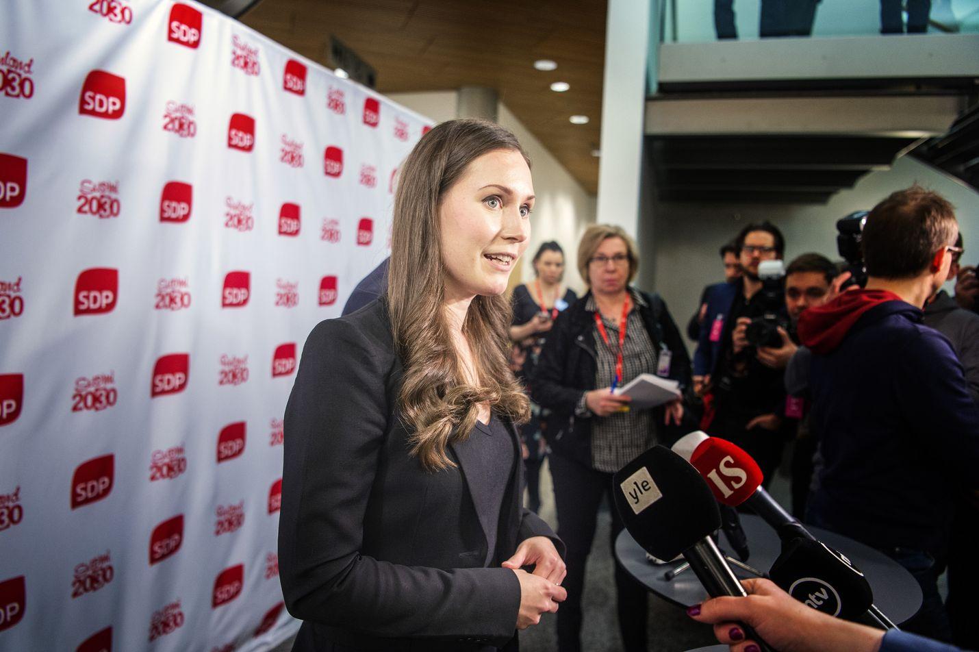 Sdp:n Sanna Marin nousee pääministeriksi tiistaina.