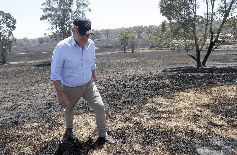 Australian pääministeri Scott Morrison asteli jouluaattona palaneella maaperällä Etelä-Australiassa.