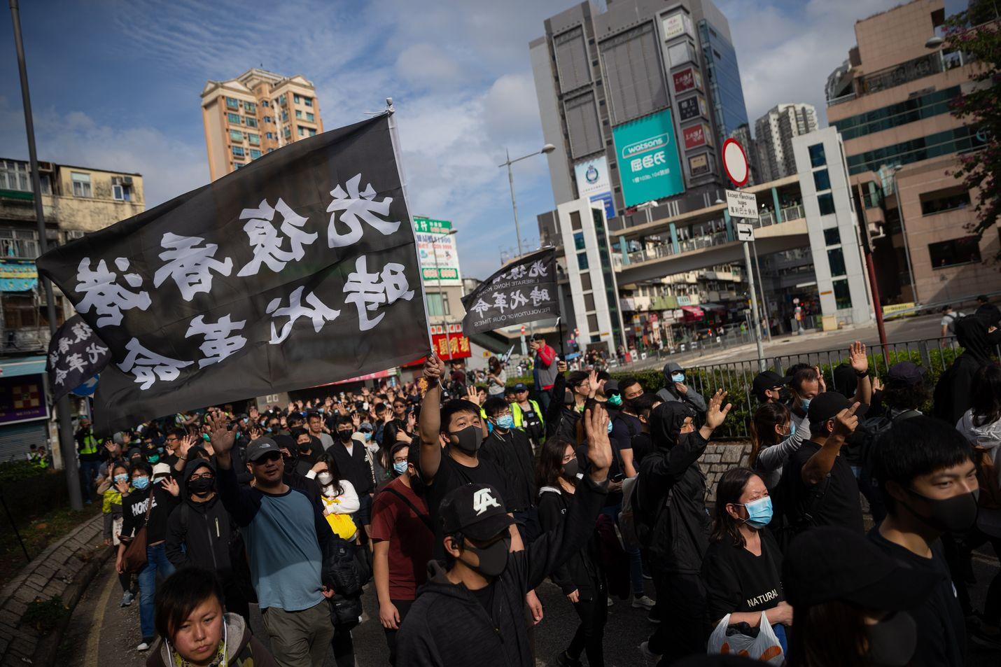 Ruotsissa Kiina on yrittänyt vaikuttaa median toimintaan. Kuvaa Hongkongin demokratiamielenosoituksista tammikuulta.