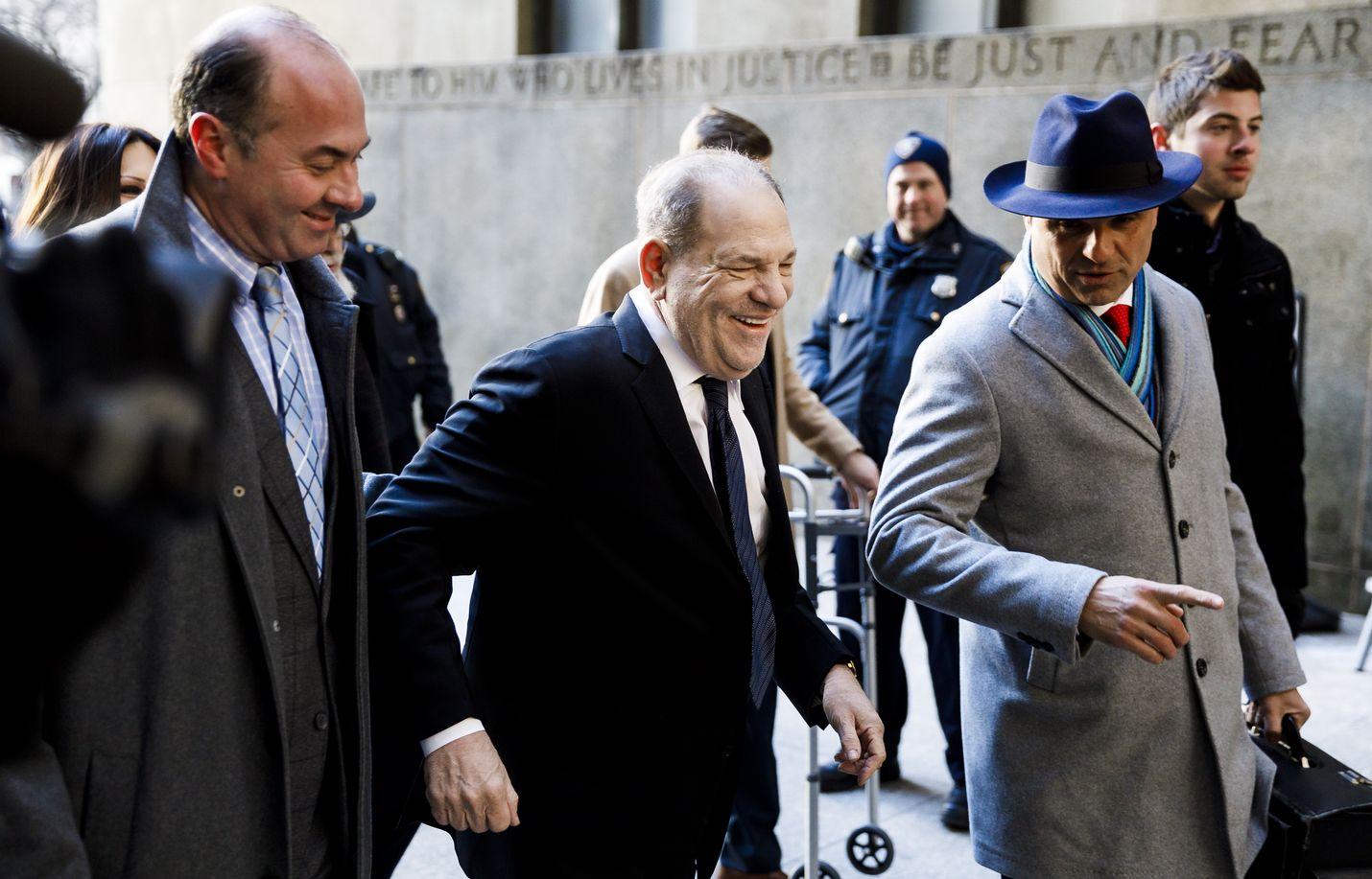 Harwey Weinstein saapui oikeudenkäyntiinsä New Yorkin Manhattanilla keskiviikkona.