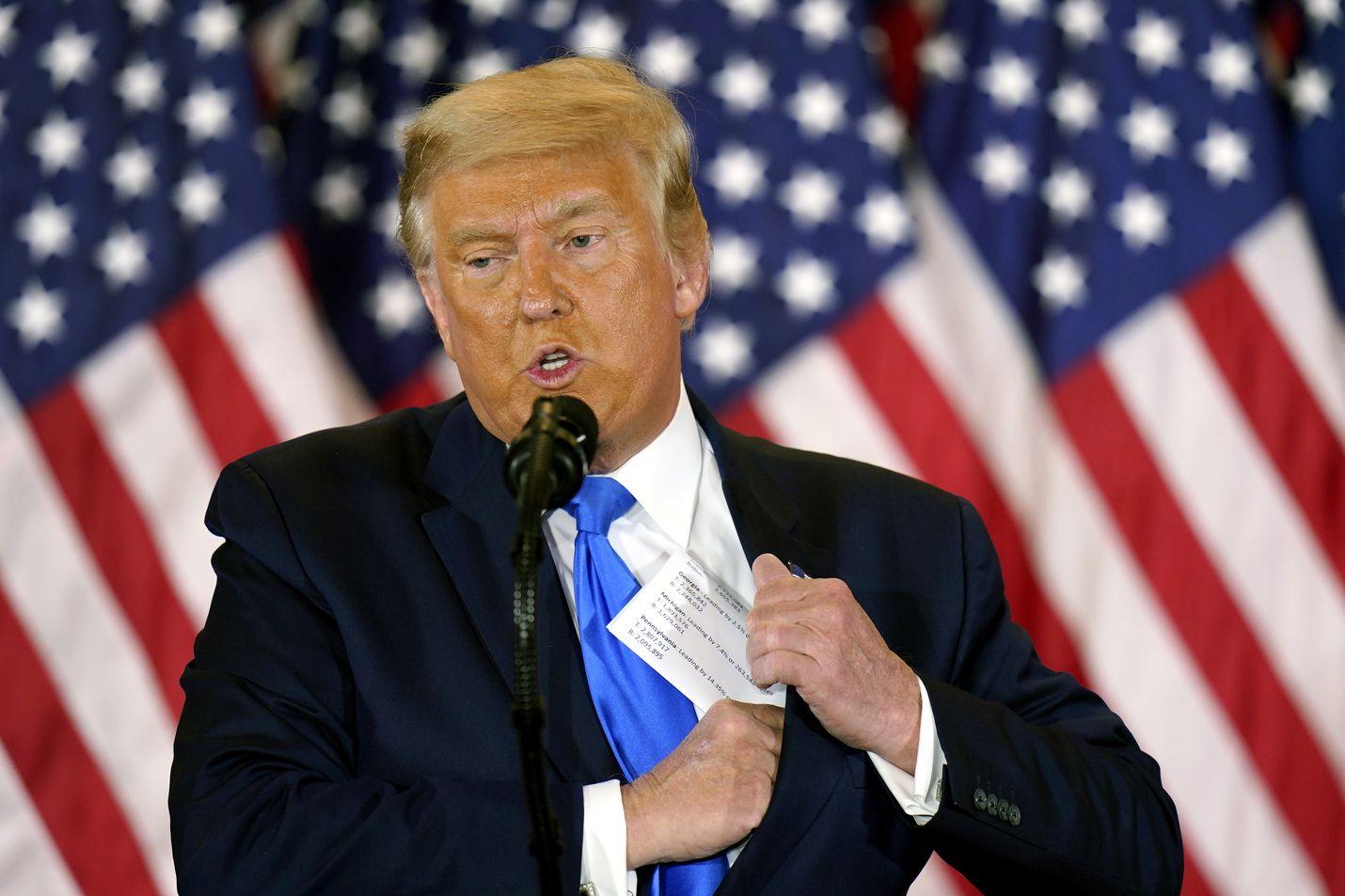 Yhdysvaltojen presidentti Donald Trump ei ole suostunut tunnustamaan tappiotaan, vaan väittää vaaleja vilpillisesti. Väitteelle ei ole esitetty mitään perusteita.