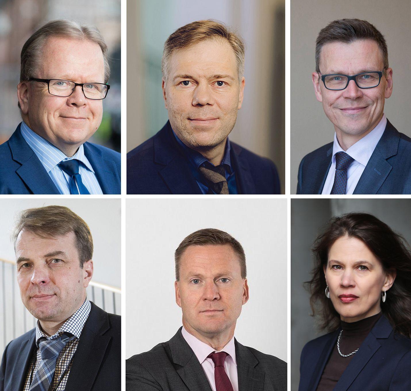 Virkaa ovat hakeneet muun muassa Pekka Timonen (ylh.vas.), Juha Majanen, Mikko Spolander, Roope Uusitalo (alh.vas), Mika Kuismanen ja Elina Pylkkänen.