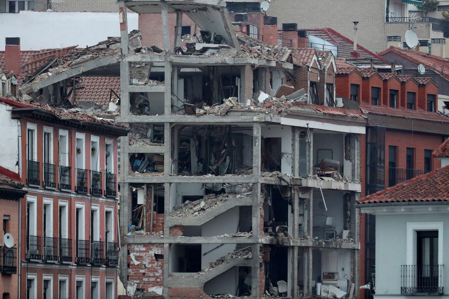 Räjähdys tapahtui Madridin keskustassa Toledo-kadulla.