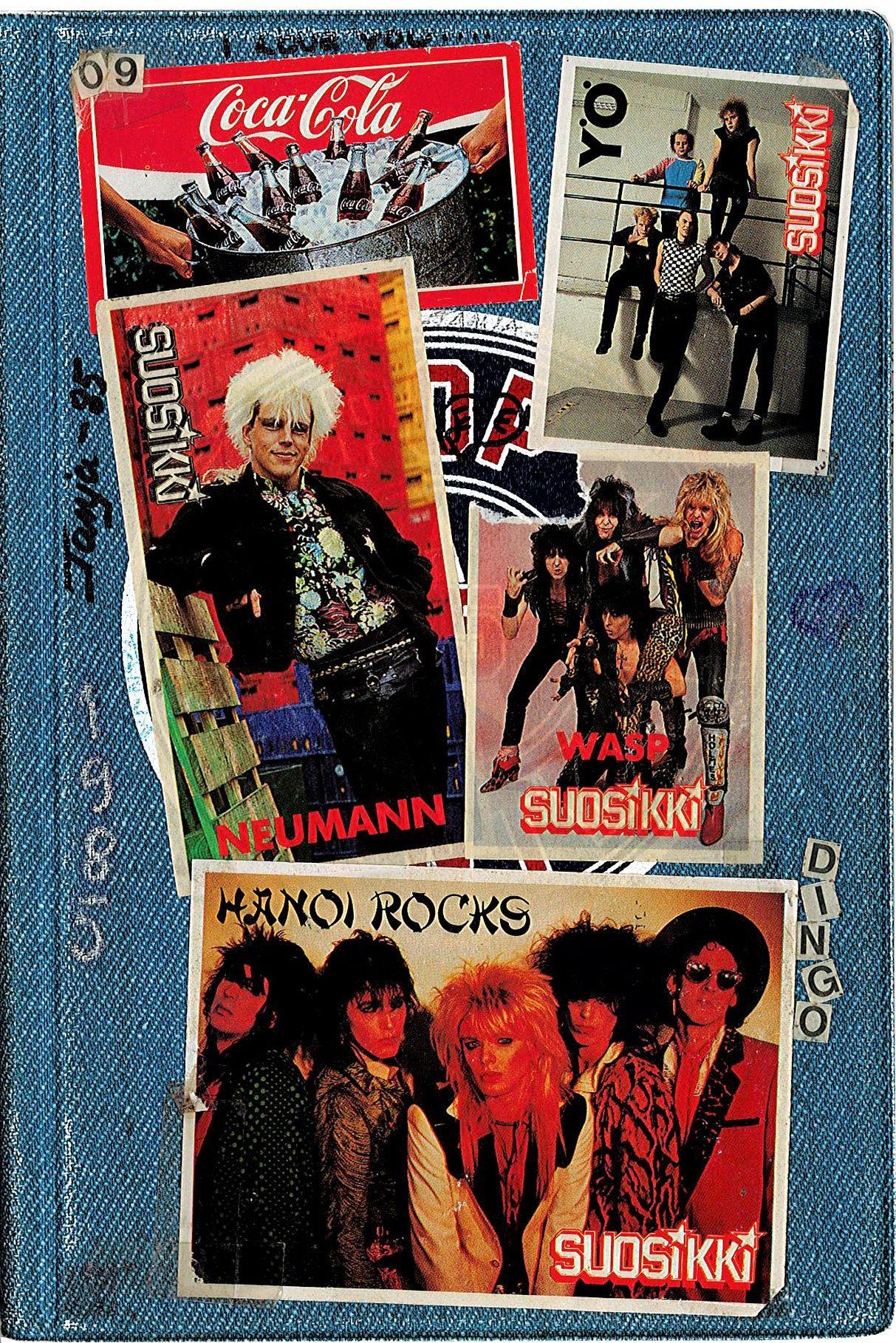 Vuoden 1985 päiväkirjan kansi on aikakautensa kuva.