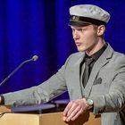 Ylioppilaan puheen piti Aleksei Derevlev. Kuva: Pekka Lehmuskallio