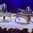 Ylioppilaat Sampo Kuusisto ja Eero Petrell esittivät sovittamansa Andante festivo -kappaleen. Kuva: Pekka Lehmuskallio