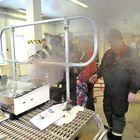 Pientalosimulaattorista pääsi yllättäen savu karkuun. Hätää ei toki ollut, kun palokuntakin oli jo valmiiksi paikalla.