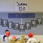 Taikatakin eskariluokan seinältä löytyvät Suomen presidenttien kuvat.
