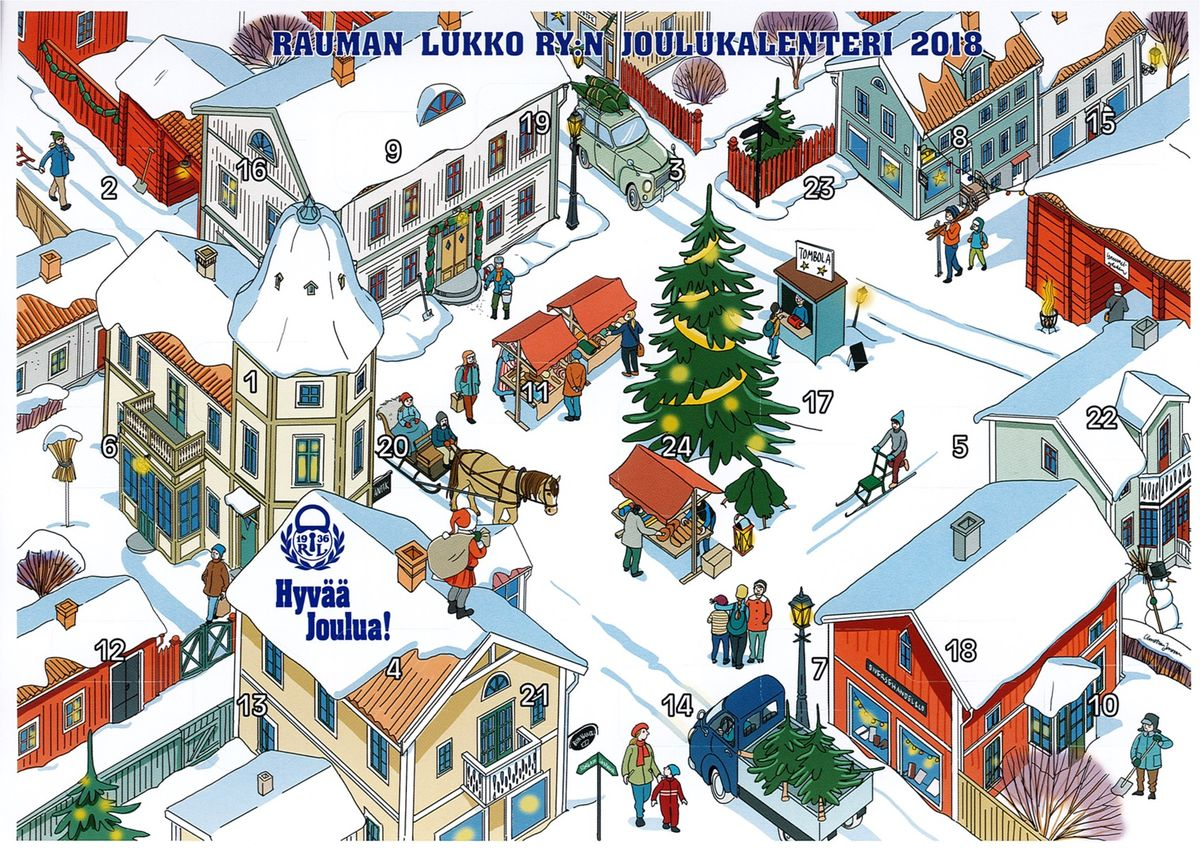 Rauman Lukko Ry:n joulukalenteri 2018