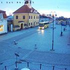 Mestareiden bussi oli Rauman torilla lauantaina aamuseitsemän maissa.