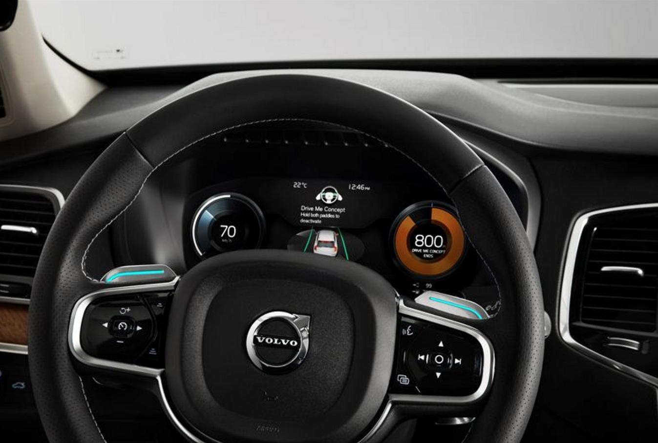 Volvo Drive Me -näyttö.