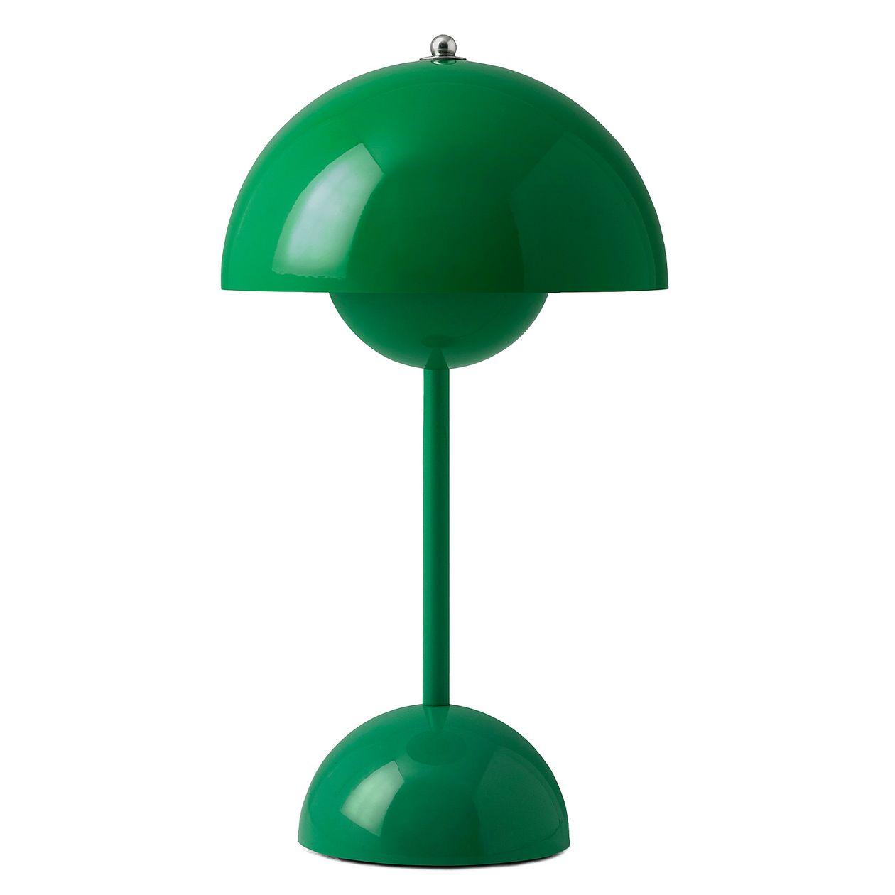 &Tradition Flowerpot VP9 johdoton pöytävalaisin, signal green