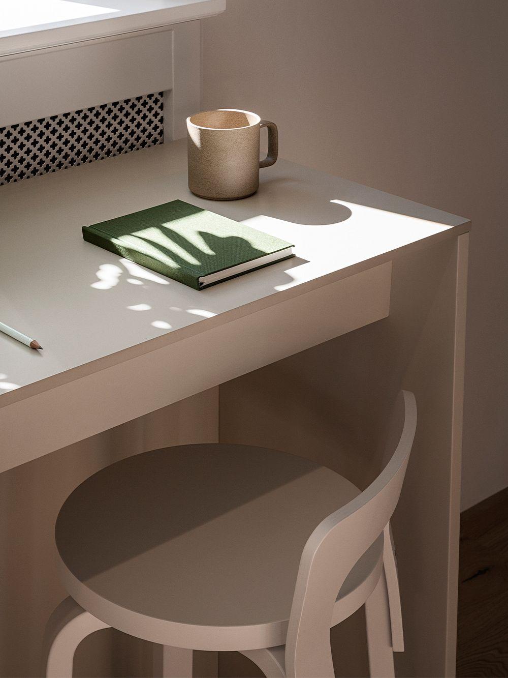 Artek Aalto työtuoli K65, valkoinen