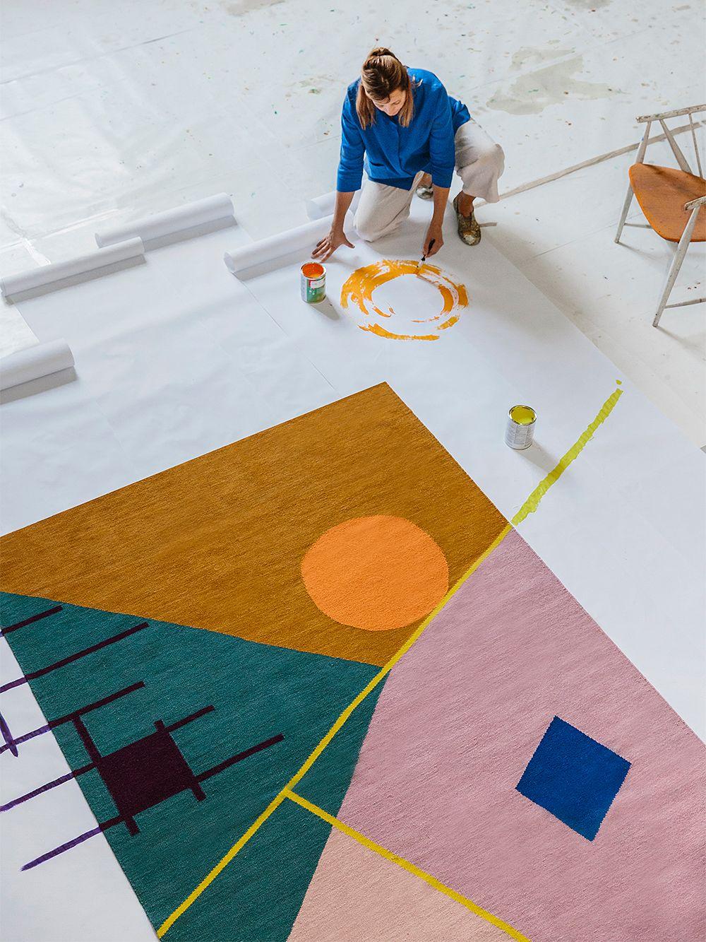Finarte Zeniitti matto 170 x 240 cm, pinkki - ruskea