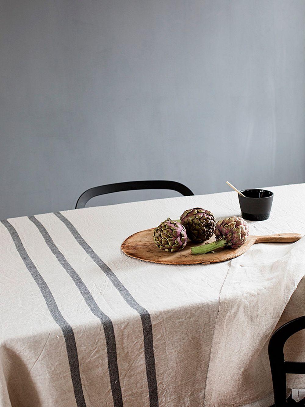 Lapuan Kankurit Usva pöytäliina, 150 x 260 cm, pellava - harmaa
