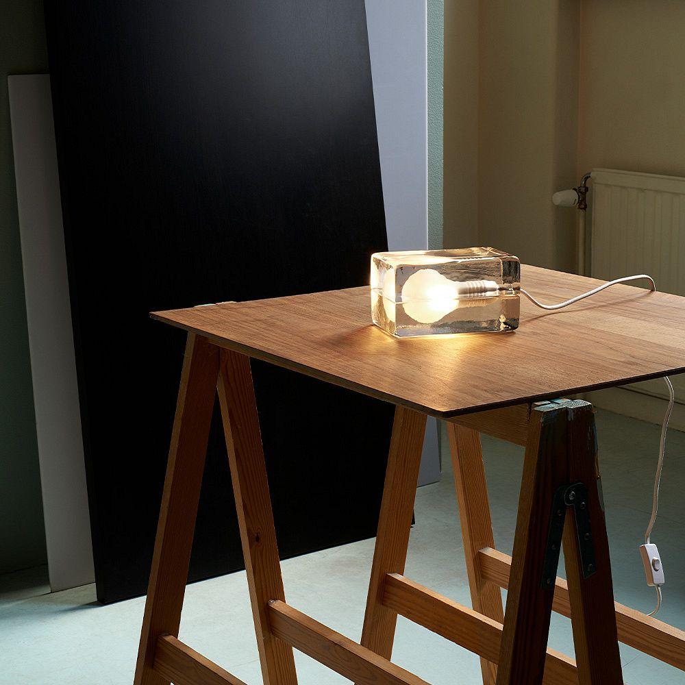 Design House Stockholm Block valaisin, valkoinen johto