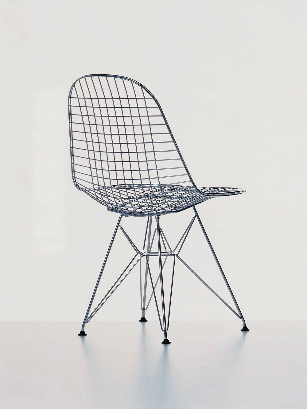 Vitra Wire Chair DKR, kromi
