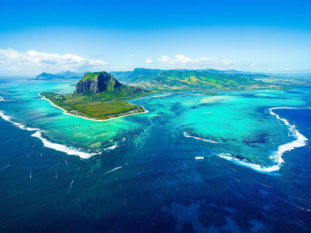 Mauritius vedenalainen vesiputous