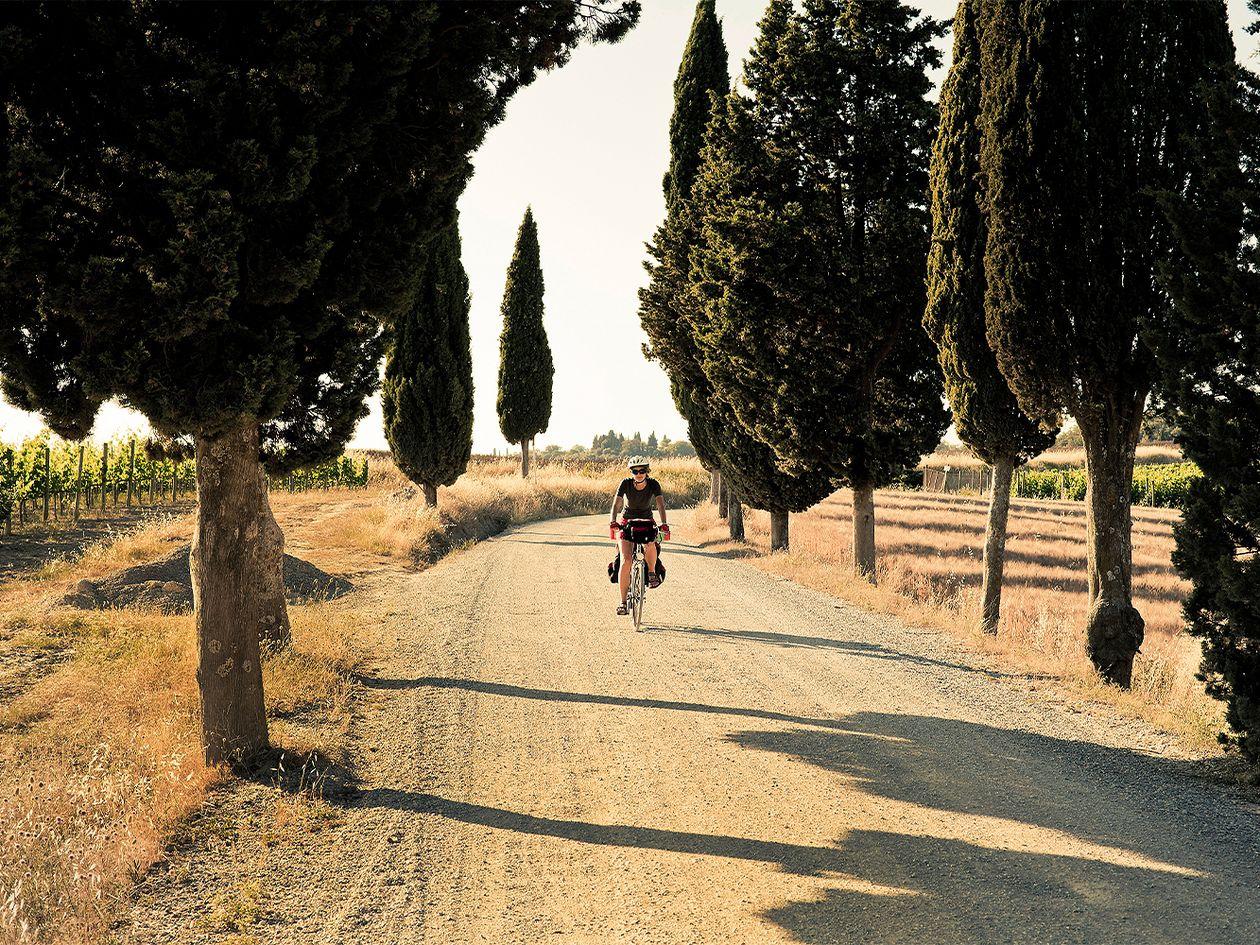 Pyöräilyreitit mahtavissa maisemissa: Toscana, Italia