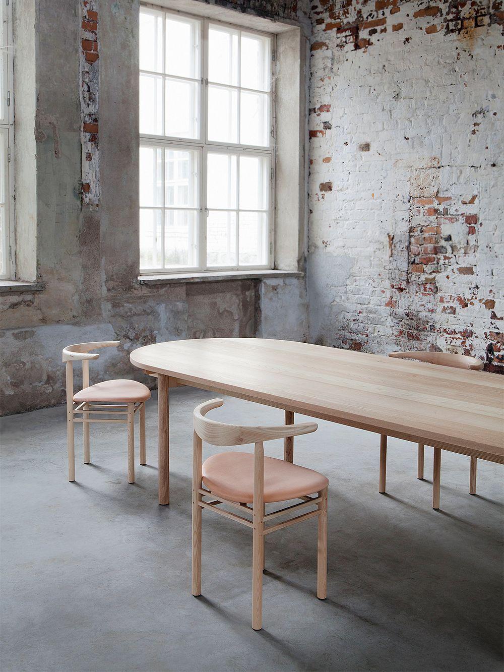 Nikari Basic pöytä, 200 x 80 x 73 cm, ovaali, tammi