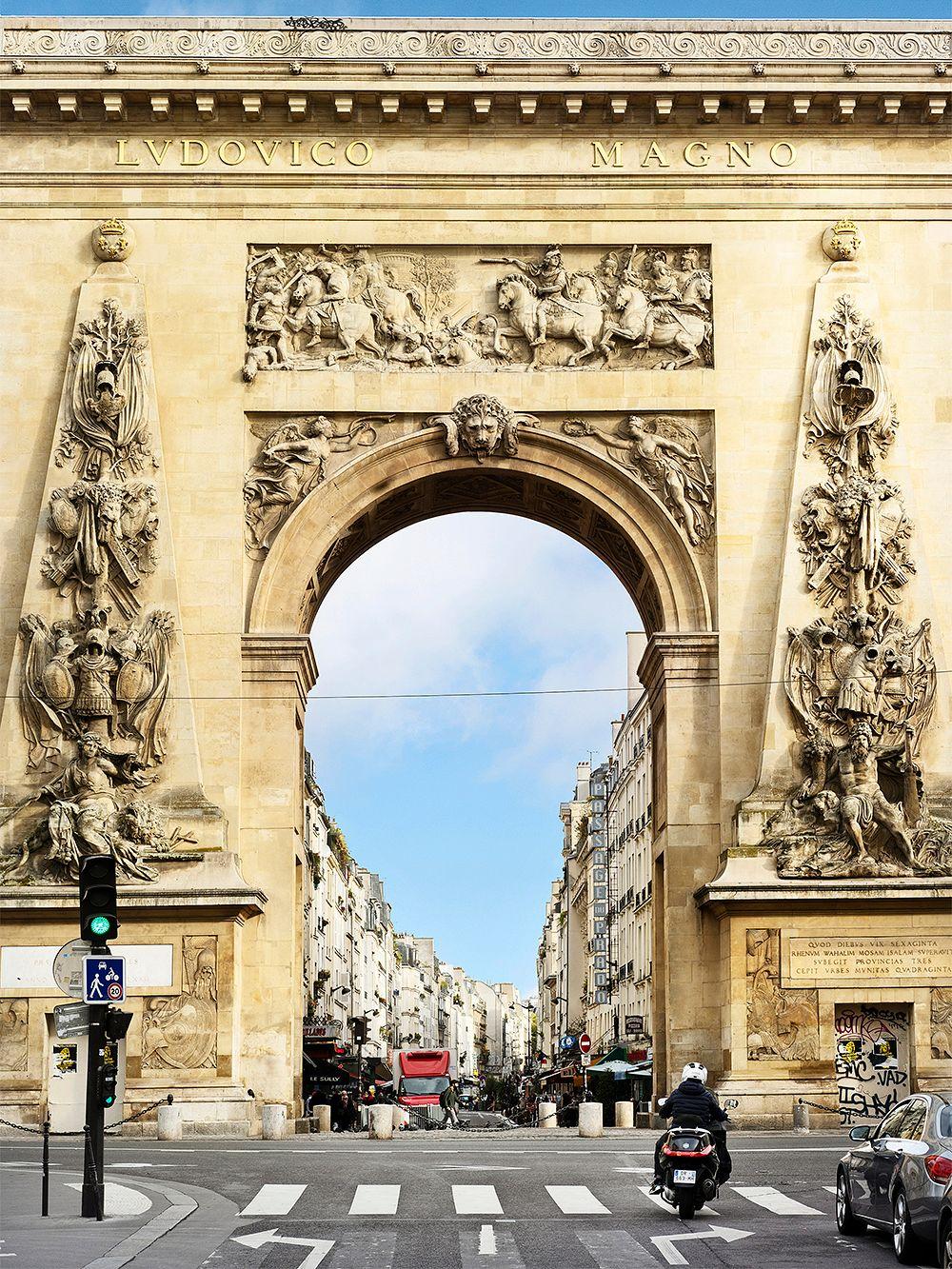 Porte Saint-Denis, yksi Pariisin neljästä riemukaaresta