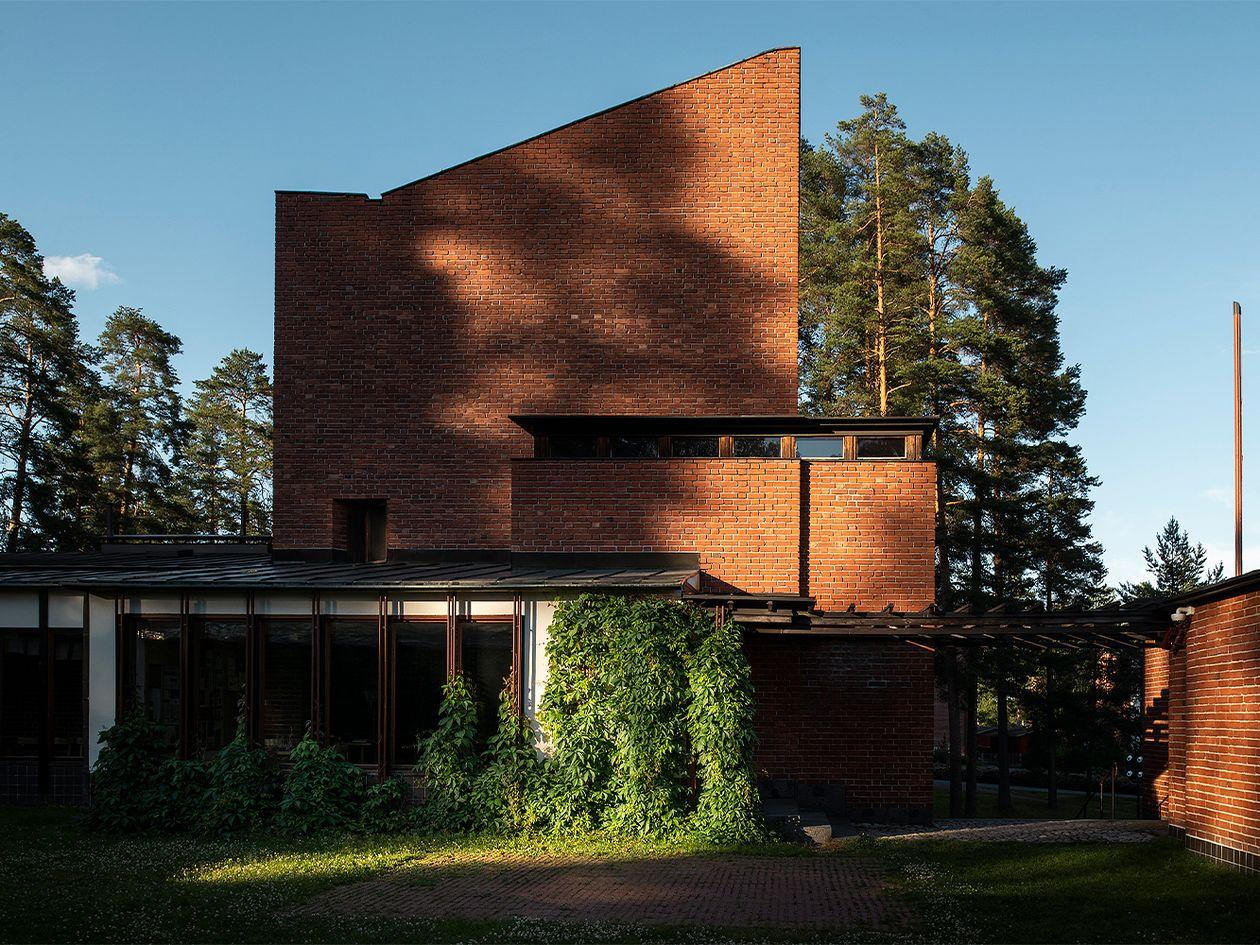 Alvar Aalto Säynätsalon kunnantalo julkisivu