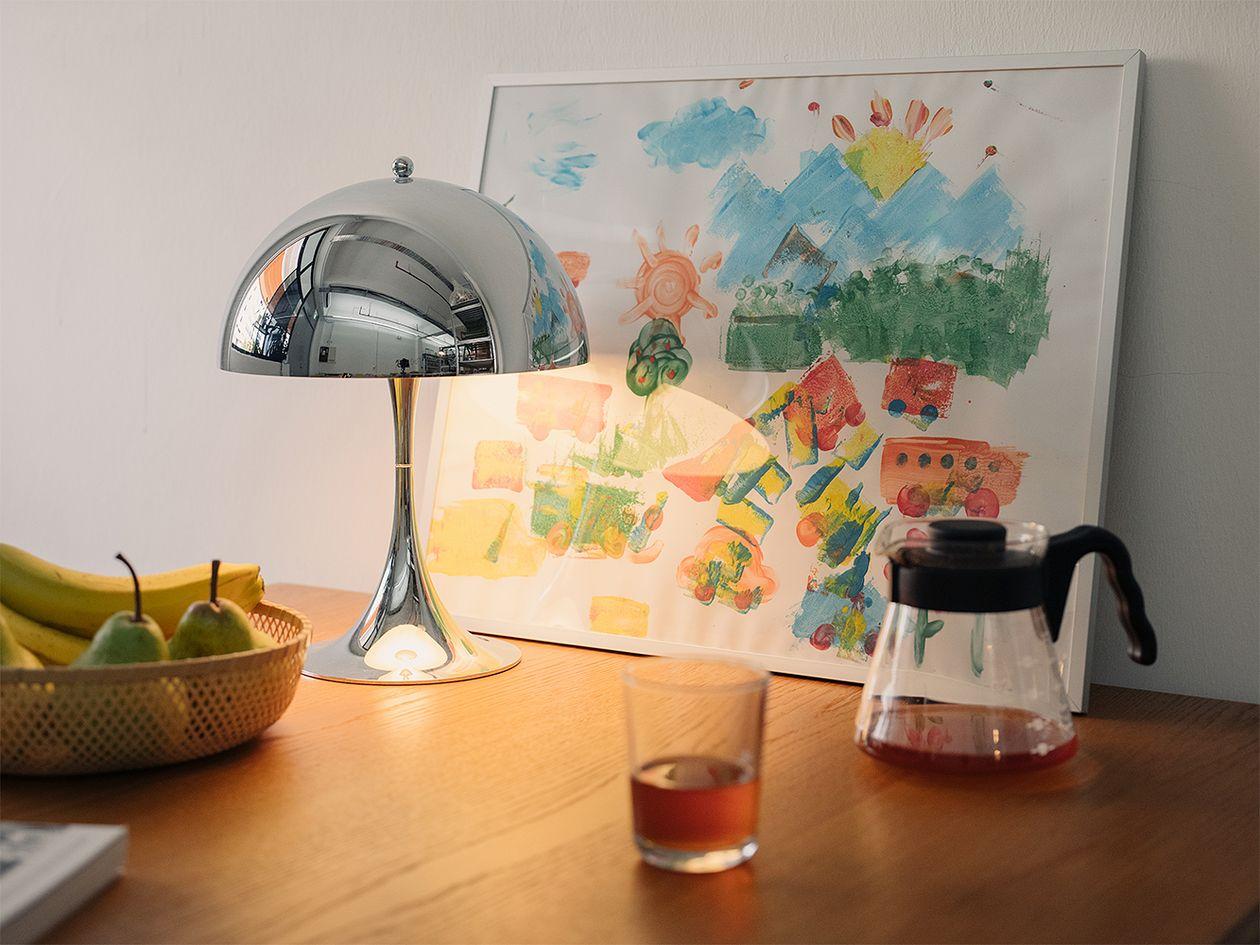 Louis Poulsen Panthella Mini table lamp, chrome