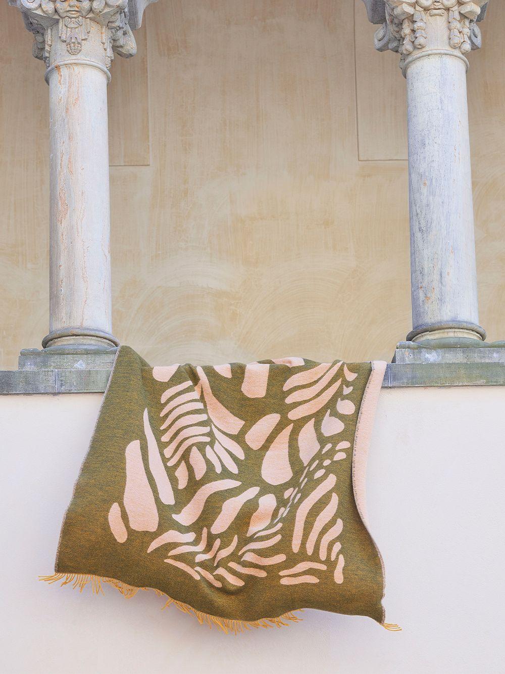 Finarte Väre viltti, 130 x 170 cm, vihreä - pinkki