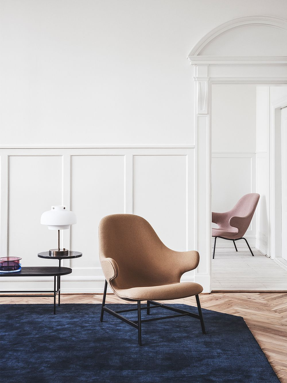 &Traditionin Catch JH14 lounge chairs in living room decor.