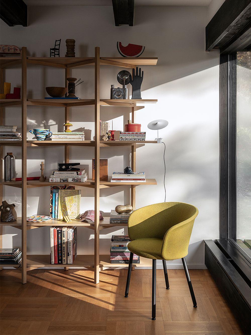 Hem's Zig Zag shelf in living room decor.