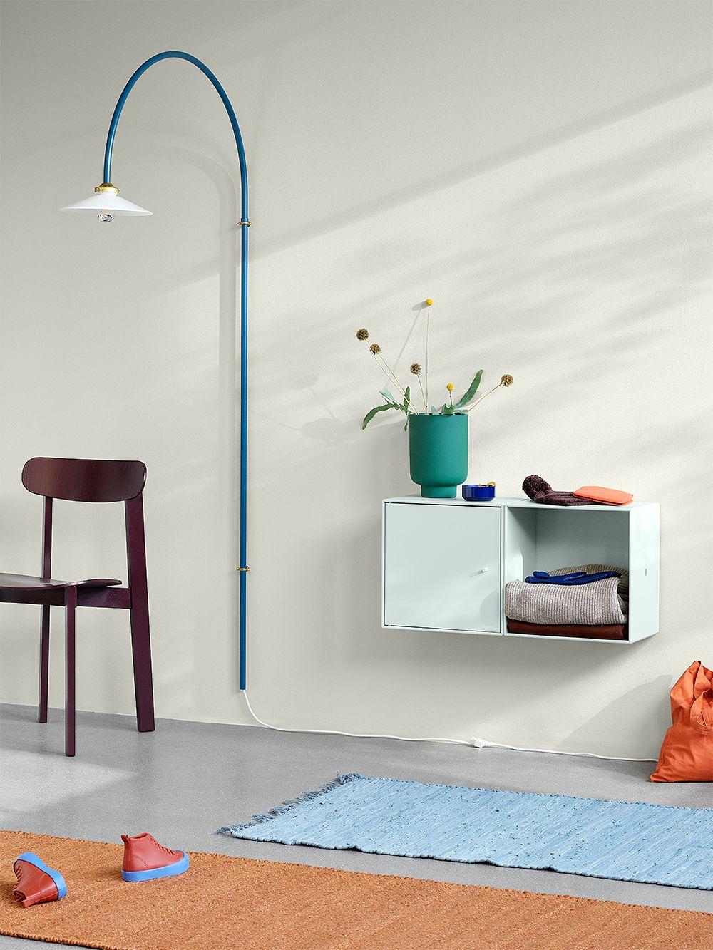 Montana Furnituren Montana Mini -säilytysmoduulit lastenhuoneen sisustuksessa.