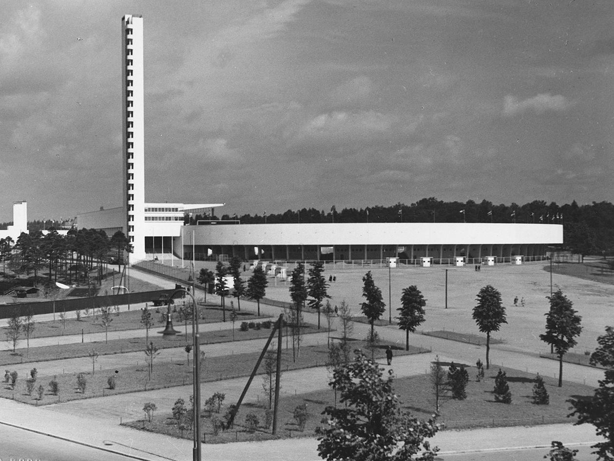 Historiakuva Helsingin Olympiastadionista