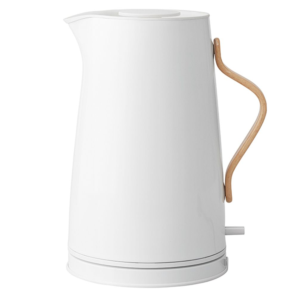 Stelton's white Emma electric kettle.