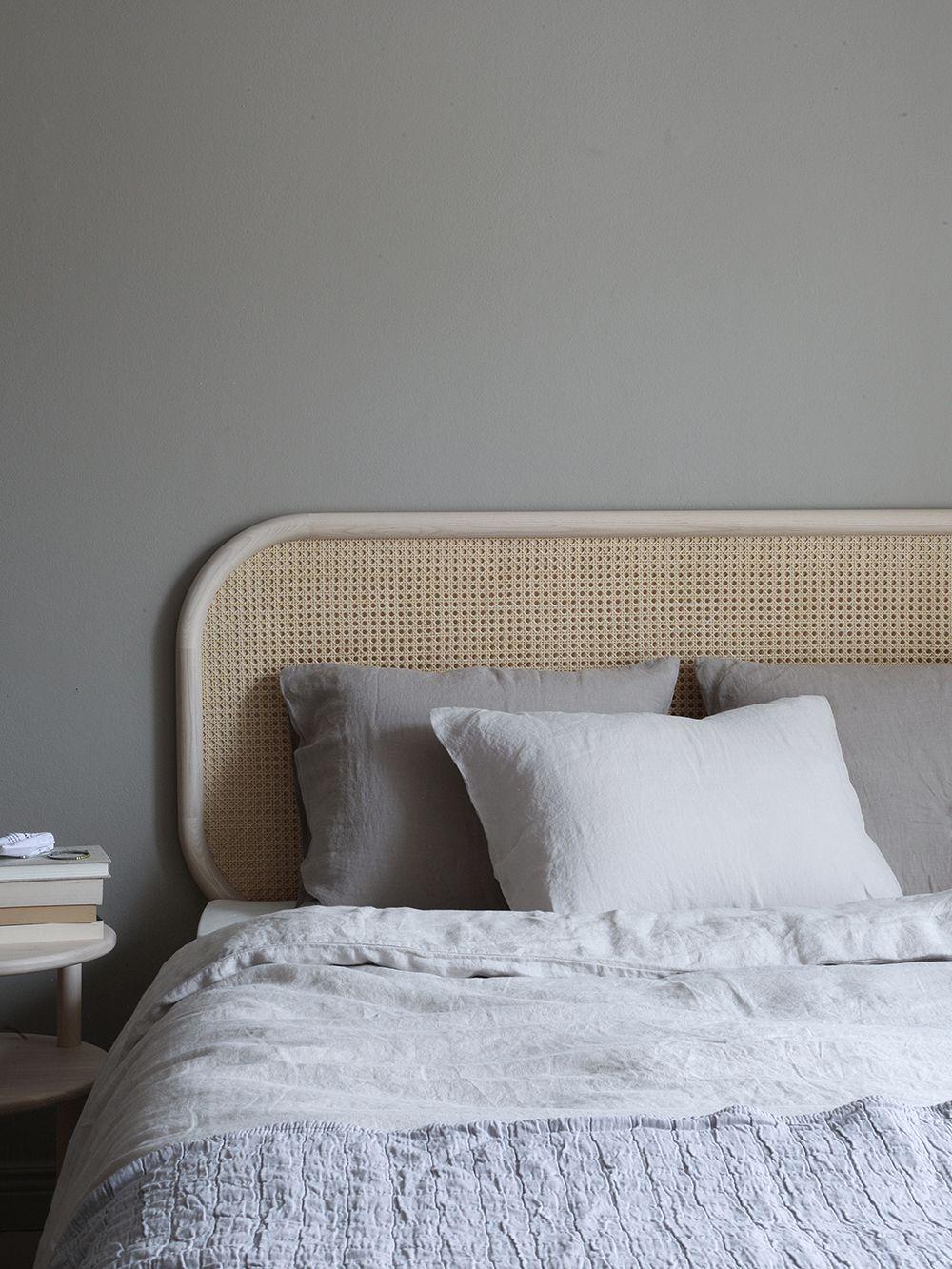 Matri's Linnea linen duvet covers on a bed.