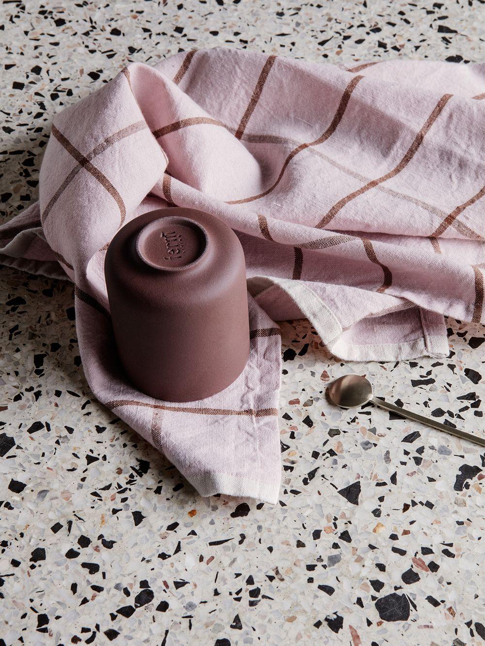 Ferm Livingin Hale-keittiöpyyhe, vaaleanpunainen