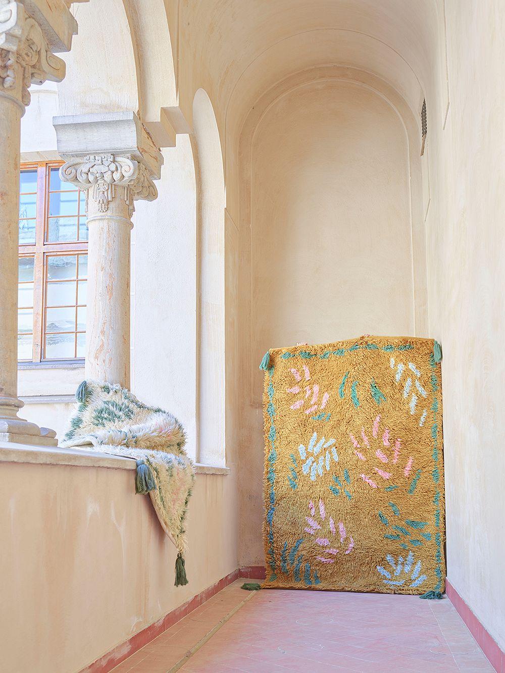 Finarte Väre matto, 140 x 200 cm, sinappi