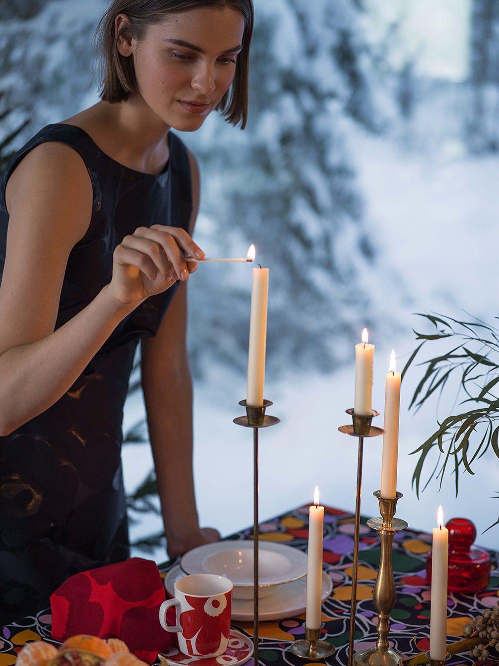 Marimekko joulun kattaus