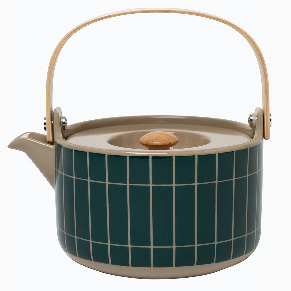 Marimekko Oiva - Tiiliskivi teekannu 0,7 L, terra - tummanvihreä
