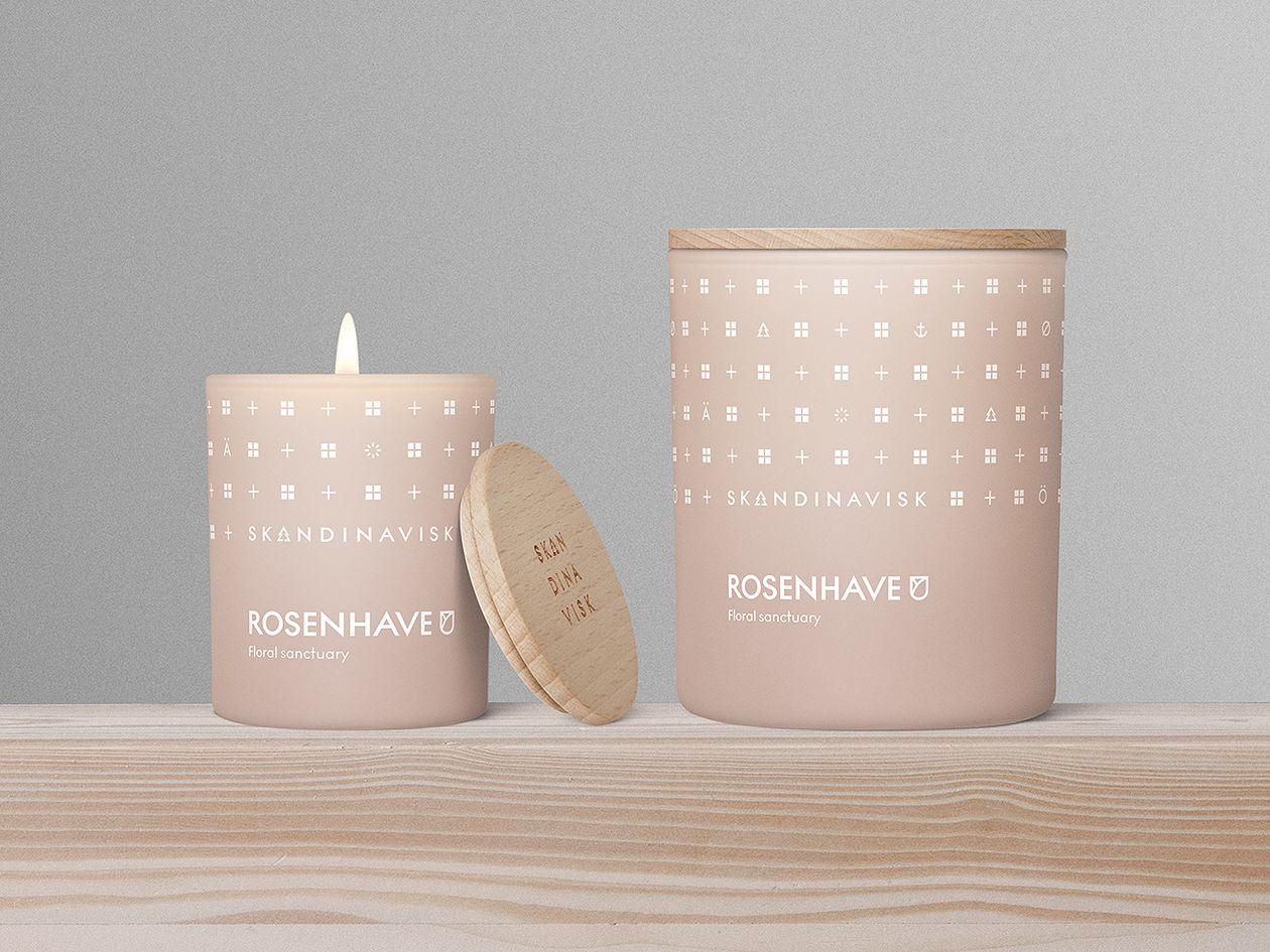 Skandinaviskin Rosenhave-tuoksukynttilä