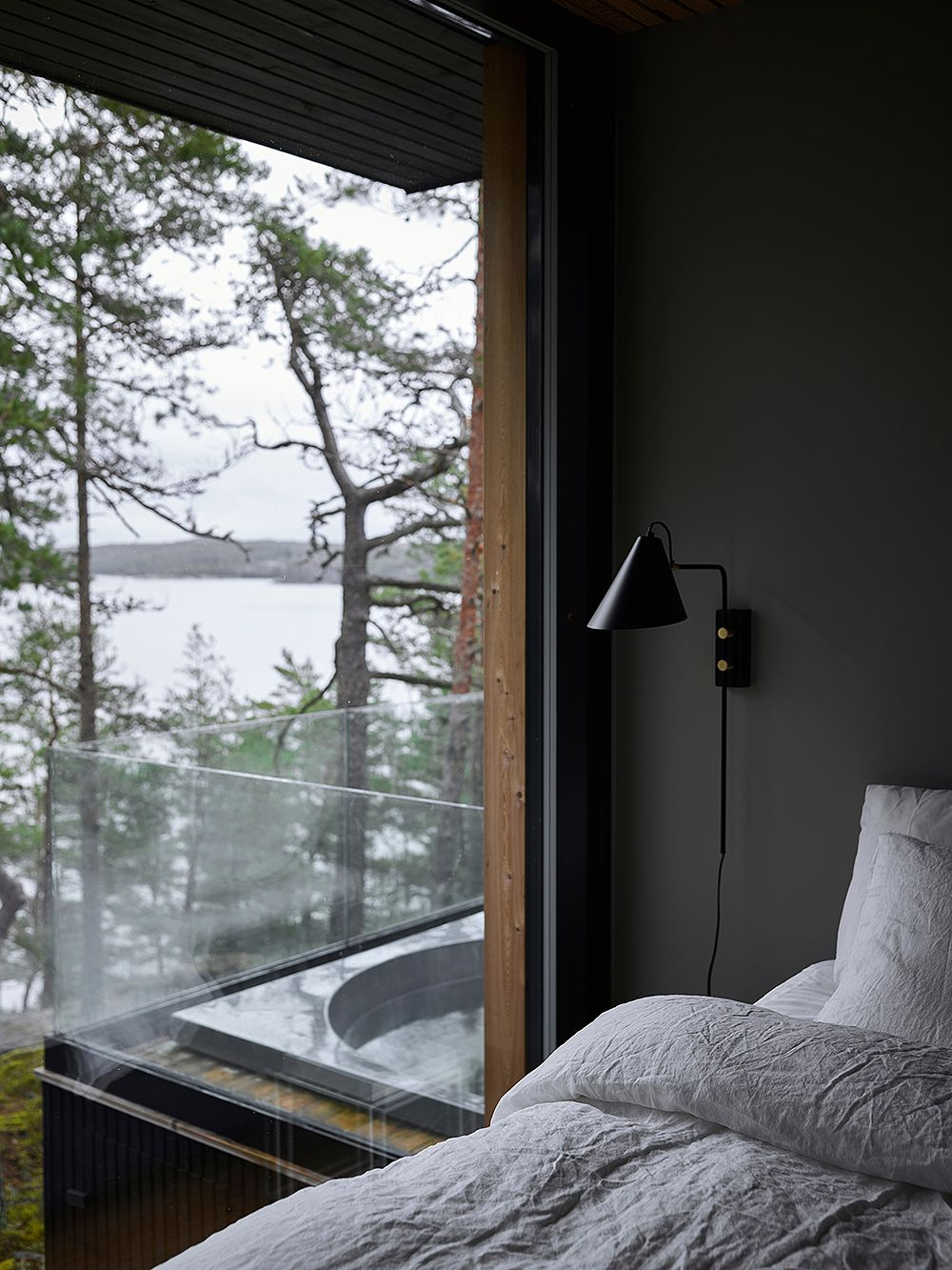 Villa Nagu makuuhuone