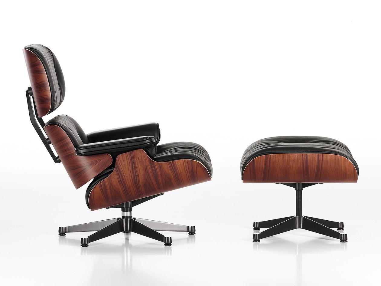 Vitran Eames Lounge Chair -nojatuoli ja -rahi