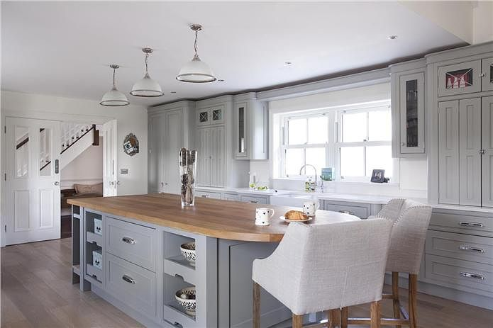 Farrow And Ball Kitchen Cabinet Paint Part - 34: Manor House Gray Kitchen Cabinets