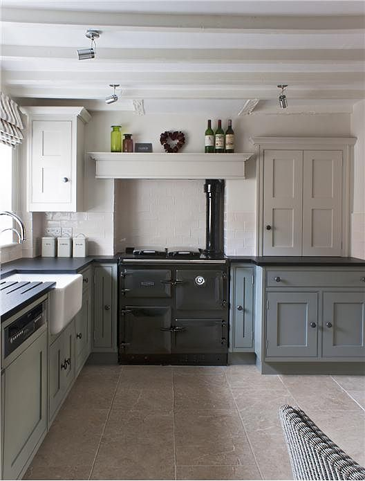 Beautiful Farrow And Ball Kitchen Cabinet Paint Part - 3: Pigeon And Shaded White Kitchen