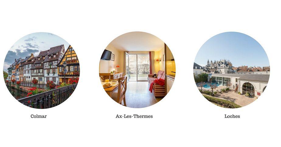 Pierre et Vacances Colmar Ax-les-Thermes Loches location d'appartements hébergement  vacances d'été
