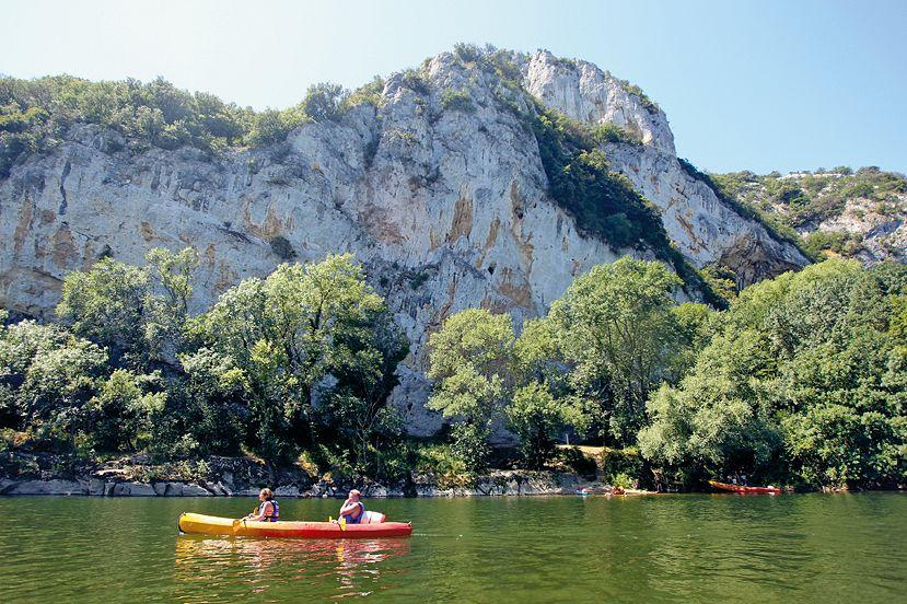 Les gorges de l'Ardèche en canoë