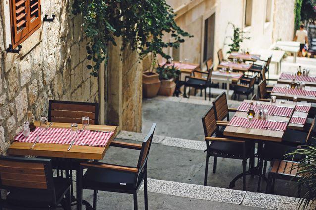 Un restaurant en Croatie